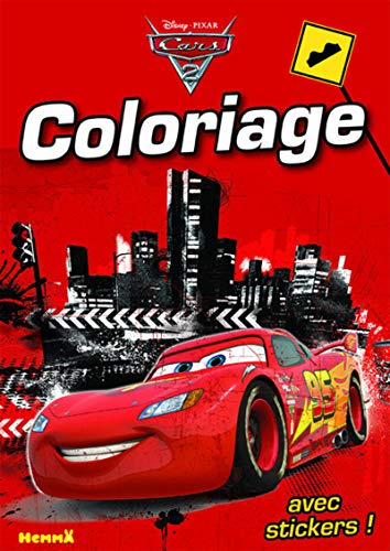 Cars 2 - Coloriage avec stickers