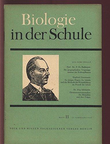 Chromosomenanomalien des Menschen und ihre Folgen, in: BIOLOGIE IN DER SCHULE, 11/1966.