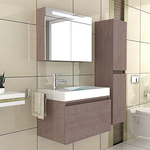 Waschbecken-Unterschrank-Badezimmer-Mbel-Waschplatz-Modell-Lugano-800-Badmbel-Farbe-Braun