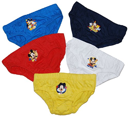 Mickey Mouse Disney 5 Pack Boys Pants Knickers