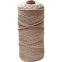 Cordón hecho a mano de algodón para macramé 2mm x 200m