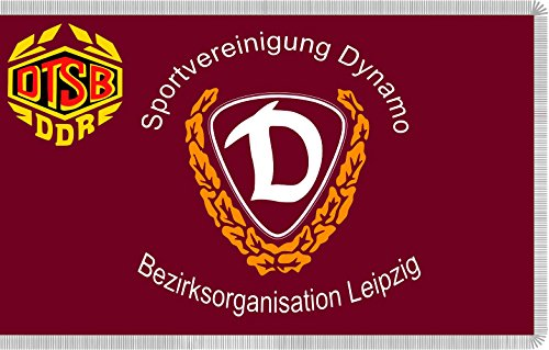 magFlags Flagge: Large SV Dynamo Flag Bezirksorganisation Leipzig | The Logo of The SV Dynamo Bezirksorganisation is not considered as Work of Authorship Because it only Consists of Text in a simp