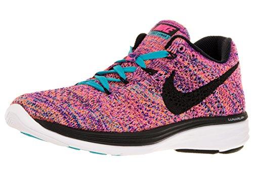 Nike Flyknit Lunar3, Chaussures de course femme Concord/Black/Gmm Bl/Ttl Orng