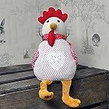 Red Spotty Linen pollo gallina fermaporta fermaporta