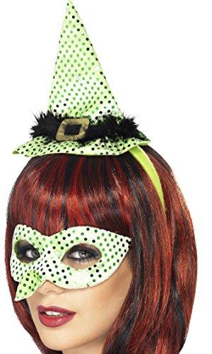 Smiffy's 24902 - Wicked Witch Instant-Kit Nase Eyemask und Mini Hut auf Stirnband, - Halloween-kostüme Funny Wicked