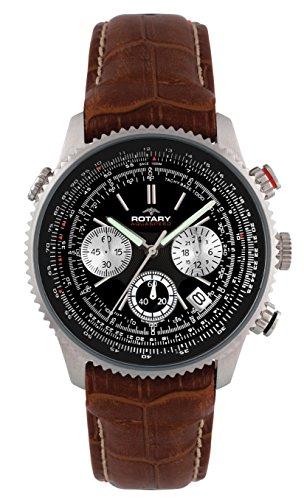 Rotary, Chronograph für Herren mit Datumsanzeige, GS00100/04/BRN