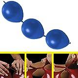partydiscount24 25 x Girlandenballons Ø 30 cm   Freie Farbwahl   19 Ballon Farben (Blau)