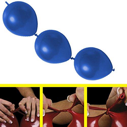 partydiscount24 25 x Girlandenballons Ø 30 cm | Freie Farbwahl | 19 Ballon Farben (Blau)