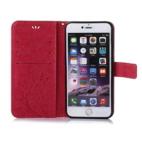custodia iphone 7 pelle rossa