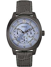 GUESS Reloj Analógico para Hombre de Cuarzo con Correa en Cuero W0660G2