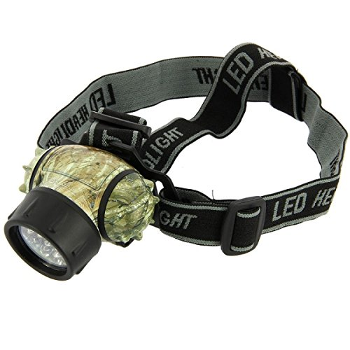 G8DS® Kopflampe, Stirnlampe CAMO mit Zoomfunktion wasserdicht 100000 LED Lebensdauer