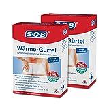 SOS Wärme-Gürtel (2er Pack) - Schmerzlinderung bei Rückenschmerzen (2x1 Gürtel)