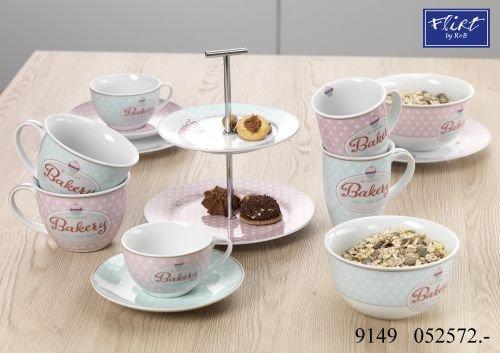 Flirt by R&B Kaffee-Serie Bakery Größe Kaffeeservice rose Bakery 18 tlg