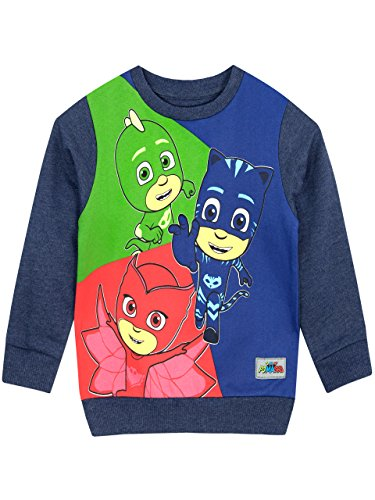 PJ Masks Jungen Catboy Owlette Gekko Sweatshirt 134 (Herren Baumwolle Pj)