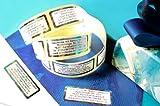 Regenbogen-Etiketten, 200 Stück mit Ihrem Wunschtext oder jedem anderen Wunschtext, ca. 51 x 19 mm, für bis zu 5 Zeilen Text