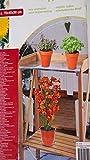 Beistelltisch mit einer Metallarbeitsplatte Blumentopf - Tisch / Dekotisch / Vintage - Design