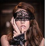 Intimate Melody - Kits de Bondage noir Menotte + masque en dentelle, blindage des yeux, Kits Érotique