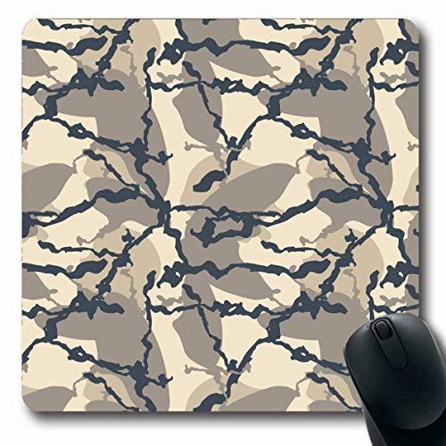 Luancrop Mauspads für Computer Canvas Army Dark Urban Camouflage Verschiedene Schattierungen Beige Material Abstrakt Grau Mischung Camo City Farbe Rutschfestes, längliches Gaming-Mauspad -