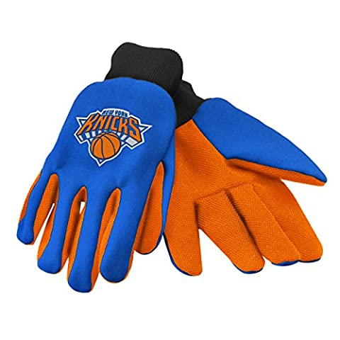 Forever Collectibles NBA 2015 utilitaire Gants, mixte, These Forever Collectibles palm gloves features plastic beading at the palm and fingers for extra grip, an embroidered team logo, and team color fabric; just what you need for the next home improvement project, or next home game