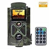 TOGUARD H50 Wildkamera 12MP 1080P Full HD Jagdkamera Zeitraffer 120°Breite Vision Infrarote 20m Nachtsicht Fernbedienung und Bewegungsmelder