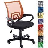 CLP Silla de escritorio GENIUS. Silla giratoria con altura regulable. Asiento acolchado y con tapizado con tela en red transpirable. Disponible en diferentes colores. naranja