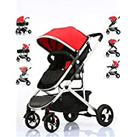 Fly Kids Pram Travel System 3 in 1 Combi Stroller Buggy Baby Child Pushchair Reverse or Forward facing Rain Cover Mosquito Net Bottle Holder Foldable with FootMuff