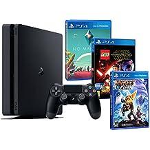 Playstation 4 Consola PS4 Slim 500Gb PACK INFANTIL 3 Juegos - LEGO Star Wars: El Despertar de la Fuerza + No Man's Sky + Ratchet & Clank