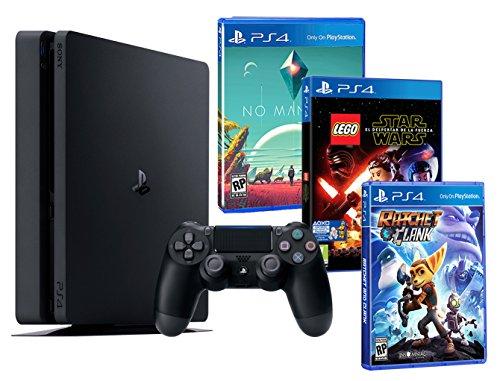 PlayStation 4 PS4 Slim Console 500Gb - Bambini Pacco 3 Giochi - Lego Star Wars: Il Risveglio Della Forza + Ratchet & clank + No Man's Sky