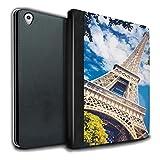 Stuff4® PU-Leder Hülle/Case/Brieftasche für Apple iPad Pro 9.7 Tablet/Eiffelturm Muster/Schöne Weltkunst Kollektion