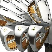 Japón Epron TRG 4-SW mancha de matriz de hierro acero cromado de Club de Golf (Regular Flex, grafito, agarre 0,6pulgadas, pack de 8), Right