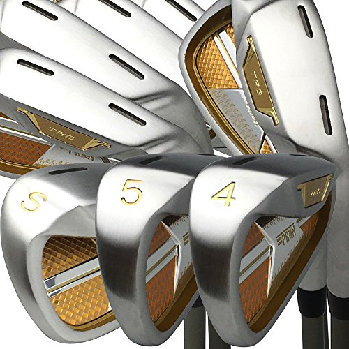 Japan epron TRG 4-SW Eisen Matrix Fleck Stahl chrom Golf Club Set (Regular Flex, graphit Schaft, Griffstück 1,5cm, 8Stück), Trg