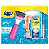 Scholl Velvet Smooth Elektrische Fußfeile, Pink, Geschenk Pack