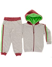Paramount Contrast 2 Stripe Full Zip Hooded Babies Tracksuit