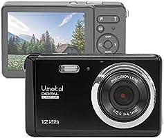 """GDC80X2 Appareil photo numérique compact avec zoom numérique 8x / 12 MP / Caméra Compact HD / Ecran TFT LCD 3"""" pour enfants / débutants / personnes âgées (Noir)"""
