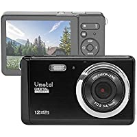 "Vmotal GDC80X2 Compact Digital Camera with 8x Digital Zoom/12 MP/HD Compact Camera/3"" TFT LCD Screen for Children/Beginners/Elderly (Black)"