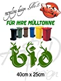Recycling Design No.5 - ***Mülltonnenaufkleber/ Sticker/ Tattoo*** frei wählbare Wunschfolienfarbe!