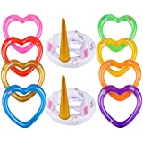 YOUTHUNION Inflatable Unicorn Ring Toss Game -Pool Tools Toys Favors Supplies Party Decorations