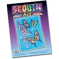 KSG - Sequin Arts & Beads - Set per creare un quadro di paillettes, soggetto: farfalla