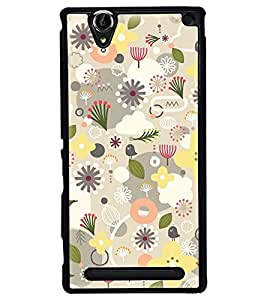 Fuson Premium Seeds And Flowers Metal Printed with Hard Plastic Back Case Cover for Sony Xperia T2 Ultra