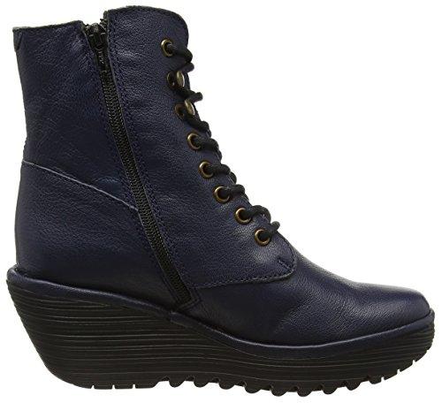 FLY London Damen Ygot Kurzschaft Stiefel Blau (Ocean 015)