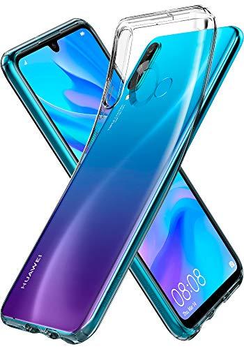 Cristal Líquido Spigen, Capa Huawei P30 Lite, Capa Huawei P30 Lite com Tecnologia de Almofada de Ar e Capa para Huawei P30 Lite - Crystal Clear