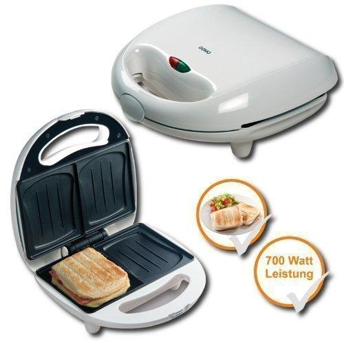 Sandwich-Toaster, 2 Scheiben Sandwichmaker für ganze Sandwiches, muschelförmige Backplatten, Antihaftbeschichtung damit nichts anklebt