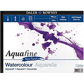 Daler Rowney Aquafine aquarelle artists watercolour TEXTURE pad A4 cold pressed