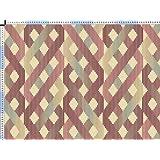 Tela de tapicería, tela de tapicería, tela de tapicería, tela, tela de la cortina, tela - Macia - lino / algodón tejido étnico hermoso