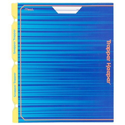 mead-trapper-keeper-snapper-trapper-2-pocket-portfolio-with-prongs-1188-x-12-x-12-inches-blue-72662-