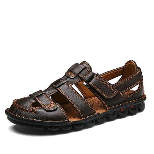 Yaer Hombres Sandalias de Cuero Zapatos de Playa Para los Hombres Zapatos de Verano Tamaño EU38-EU48(2 color)
