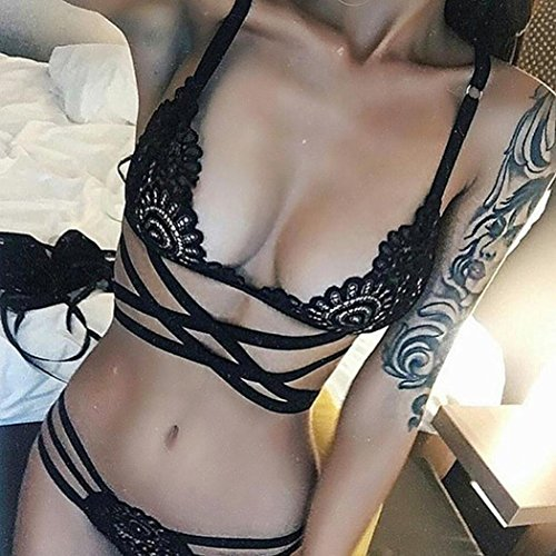 Voiks Sexy Fashion Ladies Girls Lace See Through Underwear Bra Set Woman...