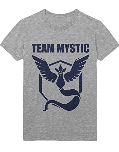 T-Shirt Poke Go Team Mystic Hype Kanto X Y Blue Red Yellow Plus Hype Nerd Game C123136 Grau L