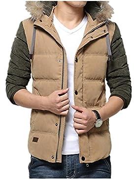 MHGAO Capa de la chaqueta con capucha del invierno de los hombres de Down , khaki , 3xl