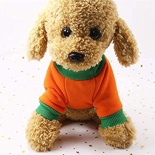 Anzug Kostüm Kürbis - Noa54fran Haustier-Hundewinter-warmes Kostüm, Hundeherbst-Outfit, Welpen-Weihnachtsfest-Kürbis-Anzug, Haustier-Feiertags-Partei kleidet Kleid für kleine Hundewelpen Halloween Cosply 1# XS